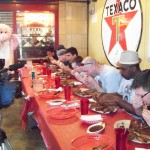 Police vs. Firemen Rib-eating Contest