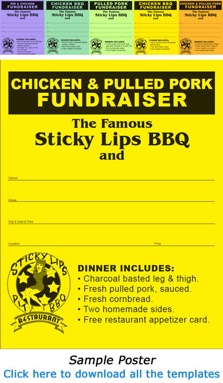 sample tickets for fundraisers